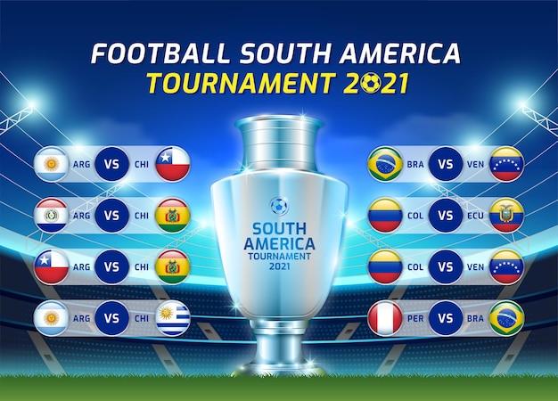 Placar transmitido futebol torneio de futebol da américa do sul de 2021
