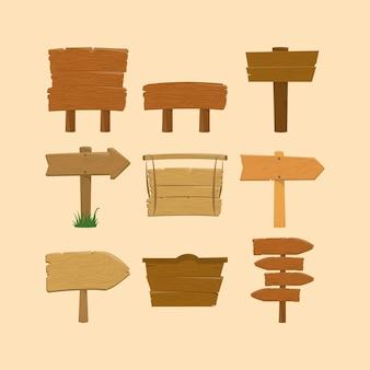 Placas de madeira para ruas