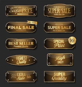Placas de metal de qualidade premium e ouro supervenda