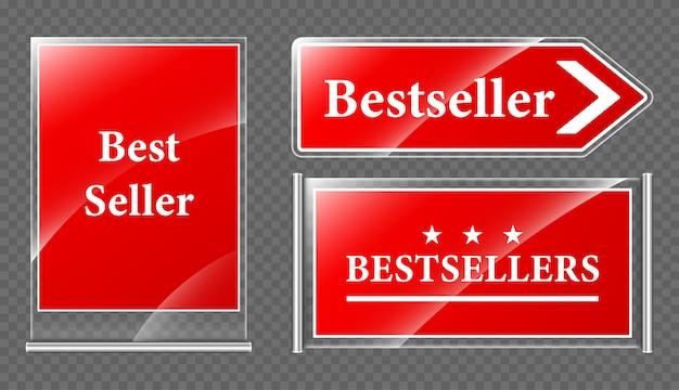 Placas de oferta do melhor vendedor