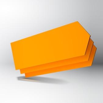 Placas de seta 3d laranja