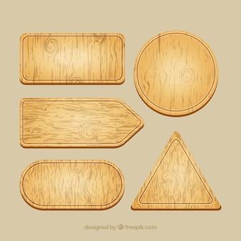 Placas de sinal de madeira embalar