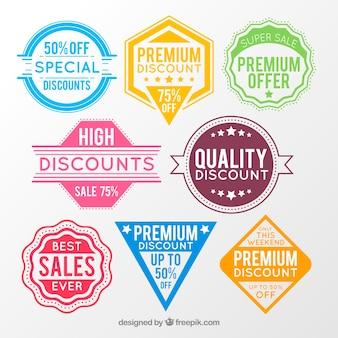 Placas e etiquetas de vendas