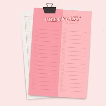 Planejador de bloco de notas rosa