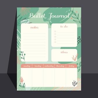 Planejador de diário criativo