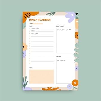 Planejador de primavera de doodle floral
