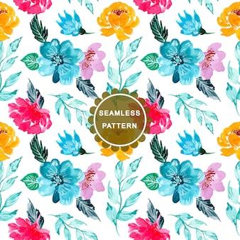 Planejador mensal da flor colorida da aguarela
