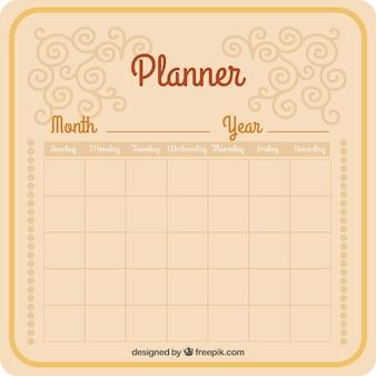 Planejador mensal útil