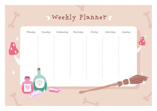 Planejador semanal mágico