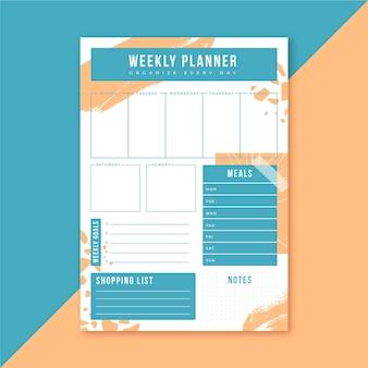 Planejador semanal