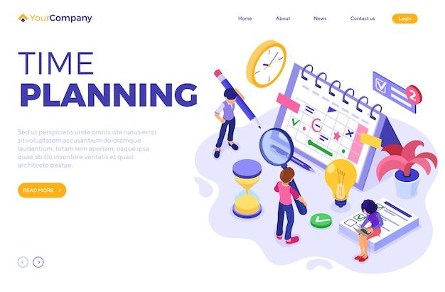 Planejamento, cronograma de gerenciamento de tempo e planejamento com prazo de entrega