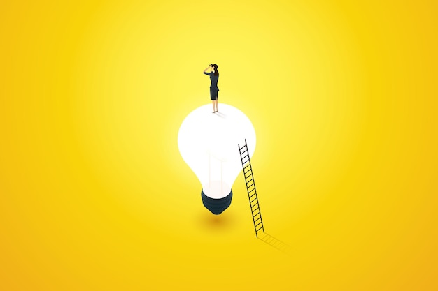 Planejamento de conceito de visão de negócios para ideias ou inspiração