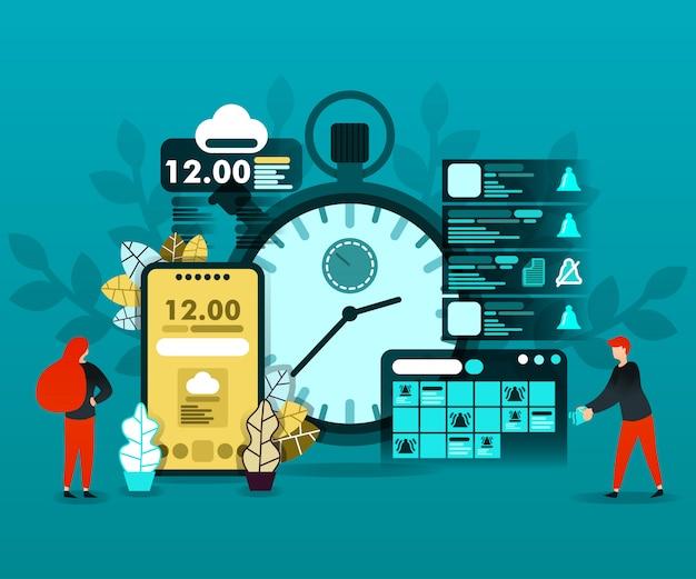Planejamento de cronograma e tecnologia de tempo