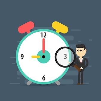 Planejamento de gerenciamento de tempo, prazo, estratégia