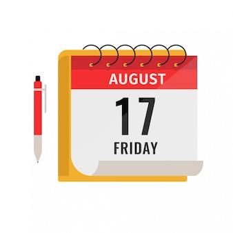 Planejamento de negócios financeiros calendário para web móvel e design gráfico