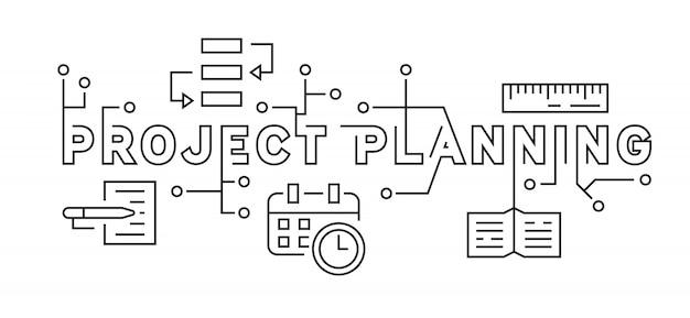 Planejamento de projetos e conceito de estratégia de negócios
