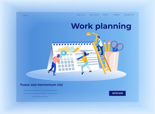 Planejamento de trabalho e gerenciamento de tempos landing page