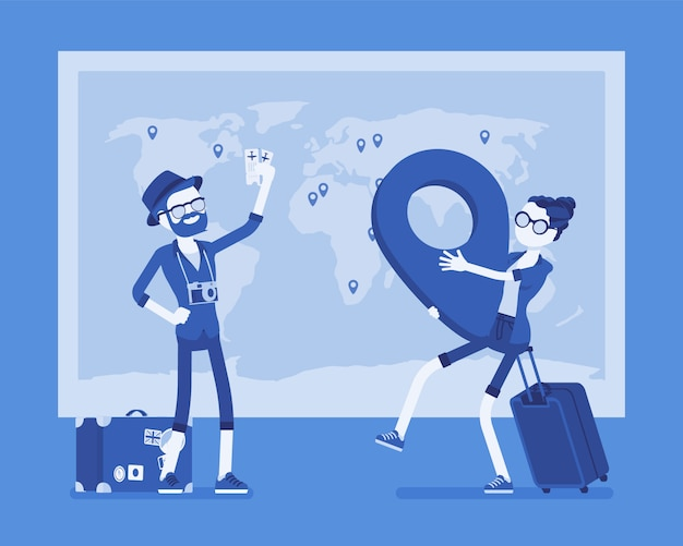 Planejamento de viagens no mapa