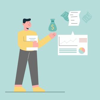 Planejamento financeiro para conceito de negócio