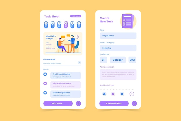 Planejar aplicativo móvel de gerenciamento de tarefas online