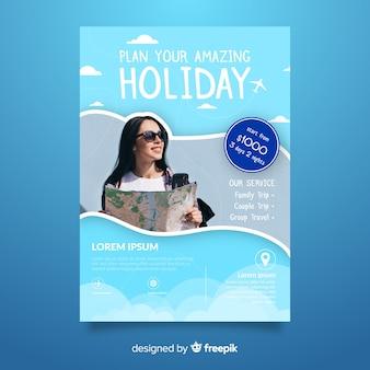 Planeje seu poster de viagens de férias