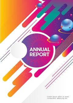 Planeta com relatório anual abstrato