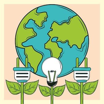Planeta de energia renovável
