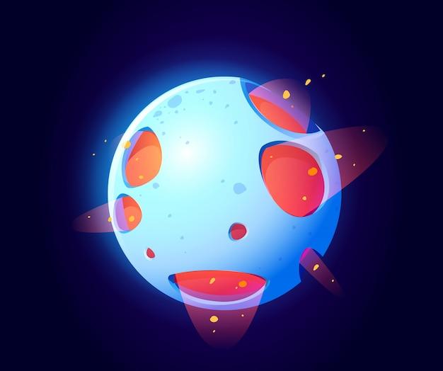 Planeta espacial fantástico para jogo de galáxia ui