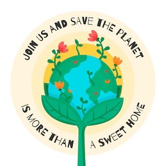 Planeta está fora doce lar salvar o conceito de planeta