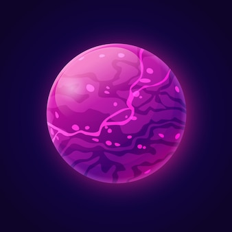 Planeta fictício com líquido de plasma