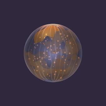 Planeta mercúrio no ícone do espaço profundo