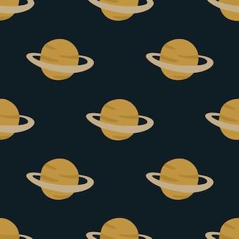 Planeta saturno padrão de fundo mídia social post ilustração vetorial