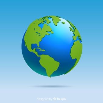 Planeta terra clássica com estilo gradiente