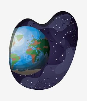 Planeta terra do sistema solar