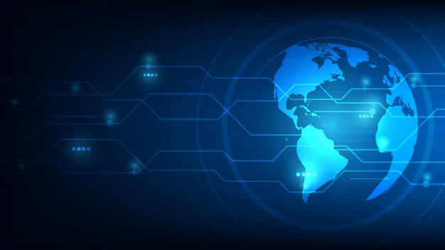 Planeta terra global futurista abstrato