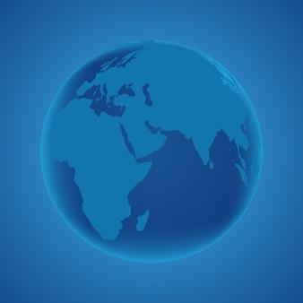 Planeta terra globo
