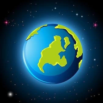 Planeta terra no espaço