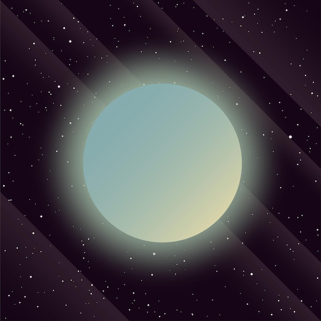 Planetas no espaço sideral planetas imaginários abstratos para convite de conferência científica de cartão de projeto
