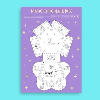 Planilha criativa da caixa mágica de chocolate