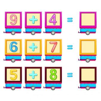 Planilha de contagem de matemática