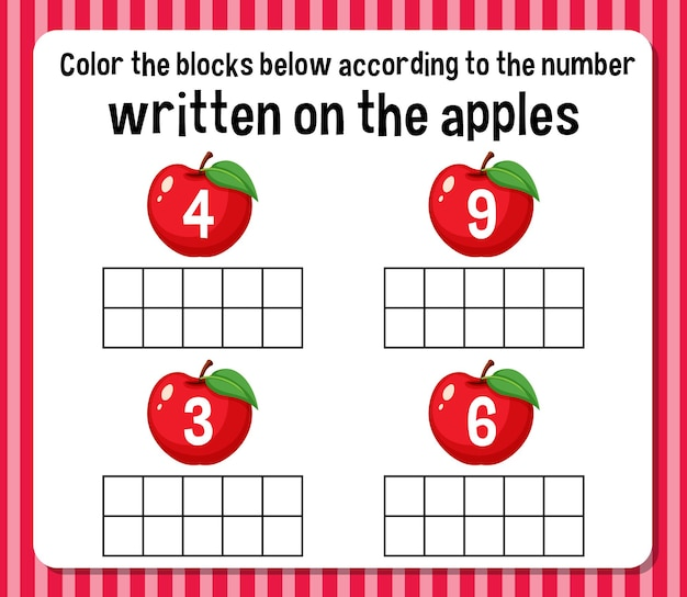 Planilha de contagem matemática