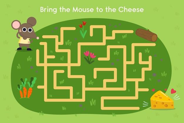 Planilha de labirinto para crianças para crianças