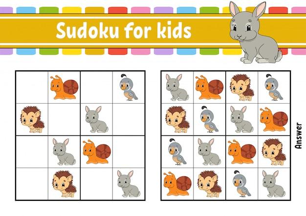 Planilha de sudoku animal