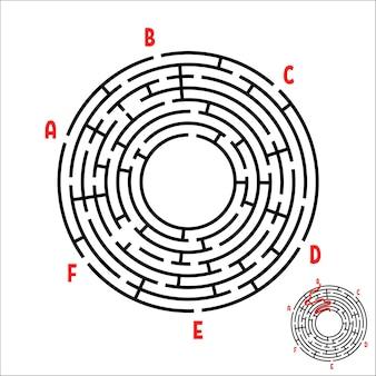 Planilha educacional do labirinto redondo
