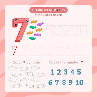 Planilha número 7 com doces