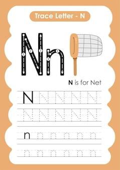 Planilha prática de escrita e desenho de linhas net trace para crianças