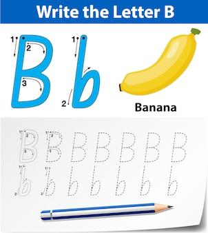 Planilhas de alfabeto de traçado da letra b