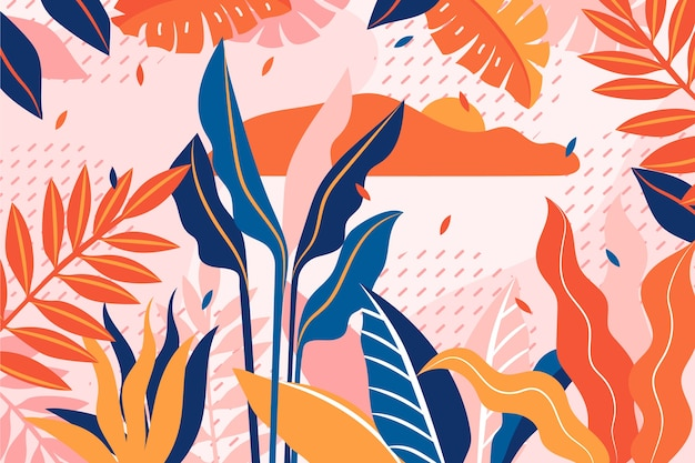 Plano abstrato floral