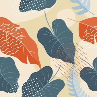 Plano abstrato sem costura padrão floral