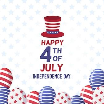 Plano de 4 de julho - fundo de balões do dia da independência